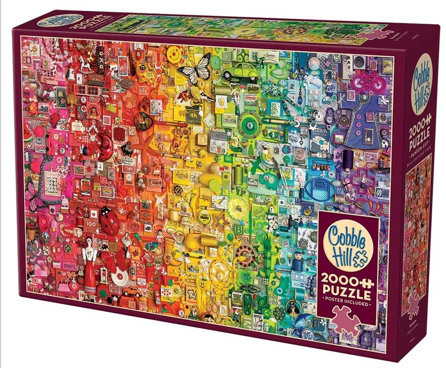 Rainbow   Puzzle Cobble Hill 2000 Piezas
