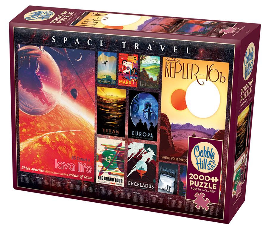 Space Travel Posters | Puzzle Cobble Hill 2000 Piezas