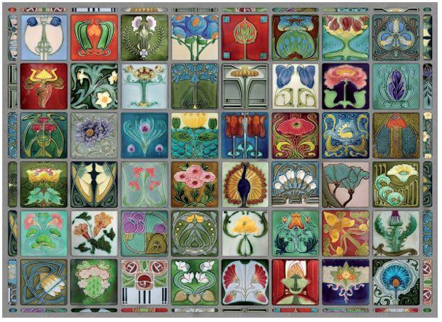 Art Nouveau Tiles   Puzzle Cobble Hill 1000 Piezas