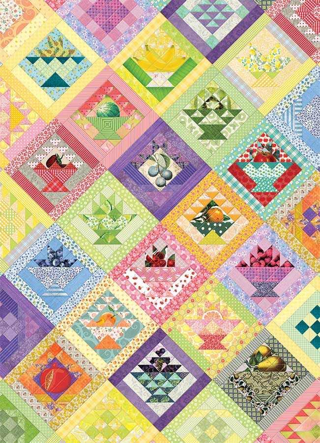 Fruit Basket Quilt | Puzzle Cobble Hill 1000 Piezas
