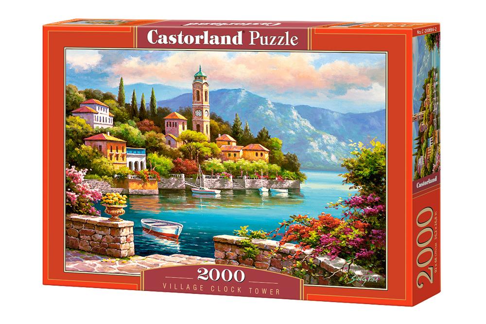 Torre del reloj de la aldea   Puzzle Castorland 2000 Piezas