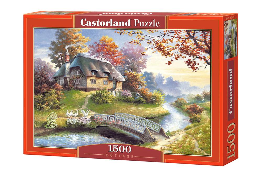 Cabaña con arboles   Puzzle Castorland 1500 Piezas