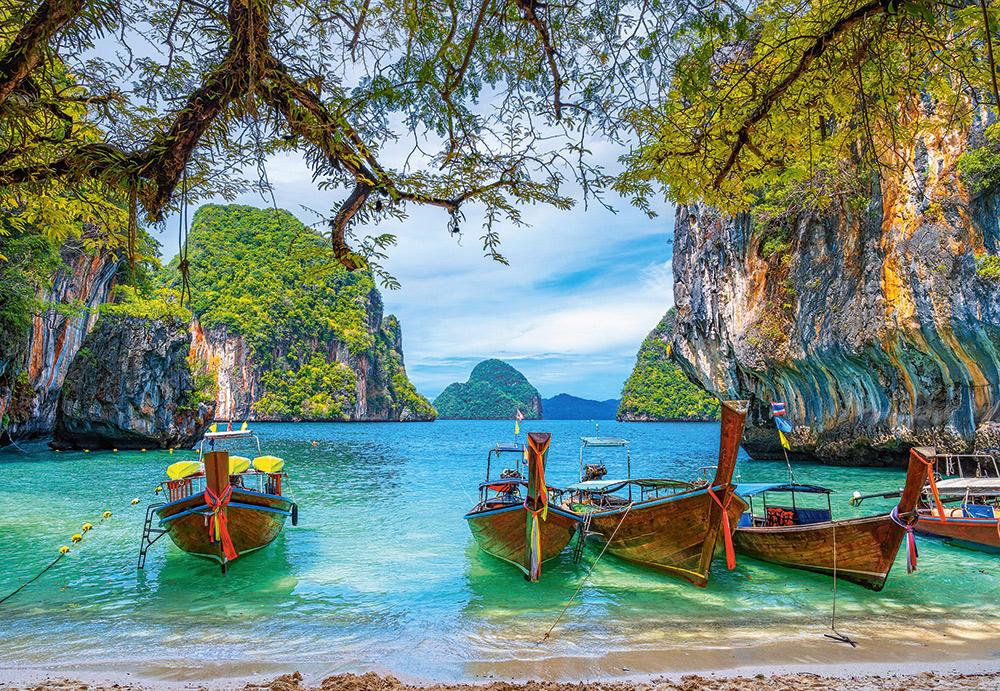 Hermosa bahía en Tailandia | Puzzle Castorland 1500 Piezas