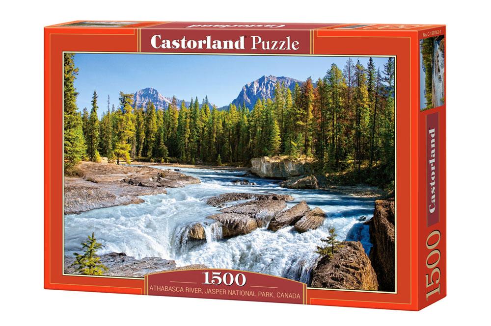 Río Athabasca, Parque nacional Jasper, Canadá | Puzzle Castorland 1500 Piezas