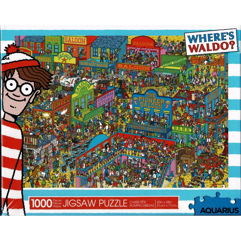 Donde esta Wally wild wild west | Puzzle Aquarius 1000 Piezas
