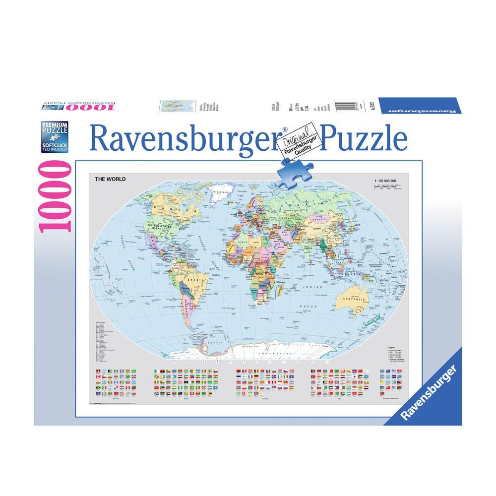 Mapamundi Político | Puzzle Ravensburger 1000 Piezas