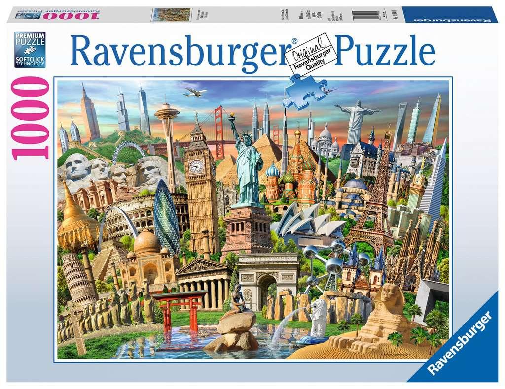 Hitos del Mundo   Puzzle Ravensburger 1000 Piezas