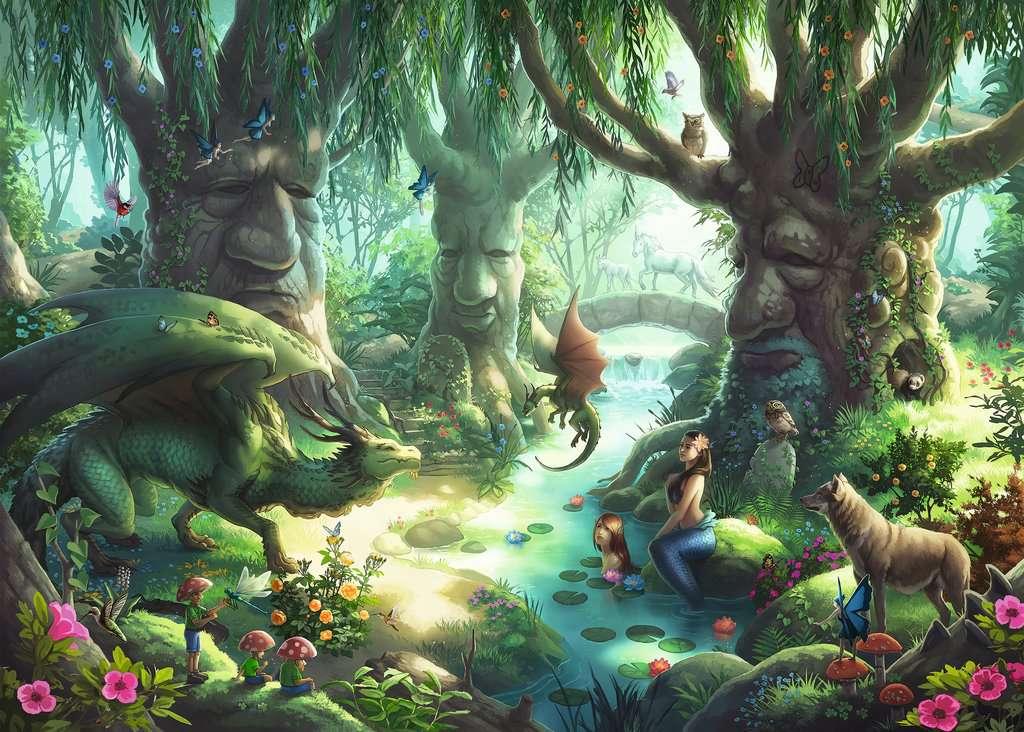 El bosque mágico   Escape Puzzle Kids Ravensburger 368 Piezas