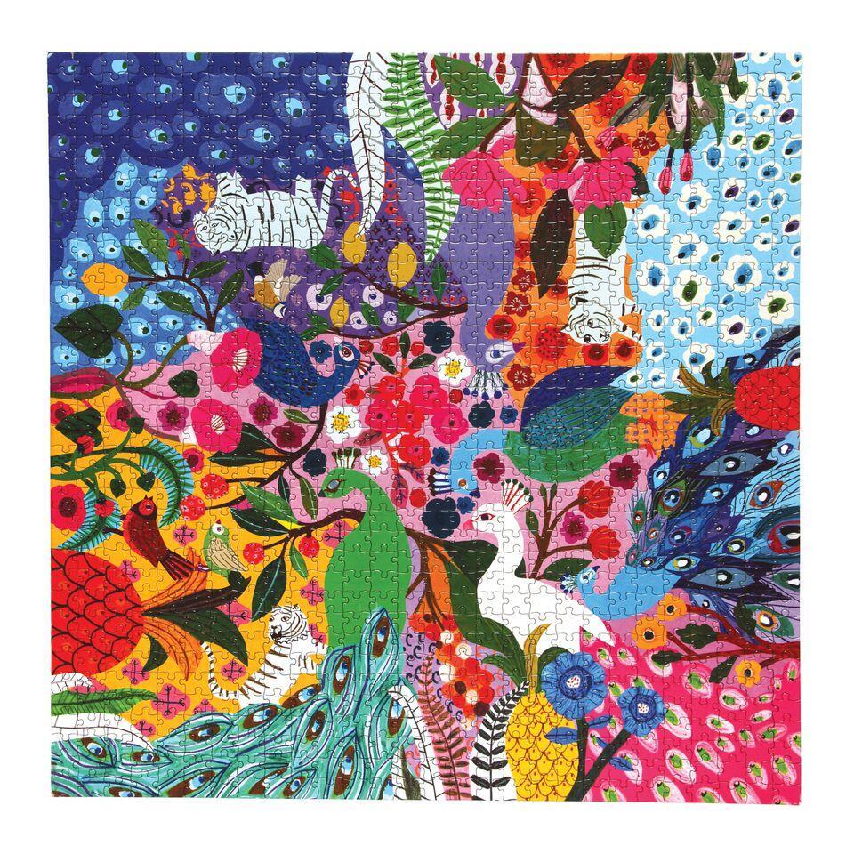 Jardín de Pavos Reales   Puzzle Eeboo 1000 Piezas