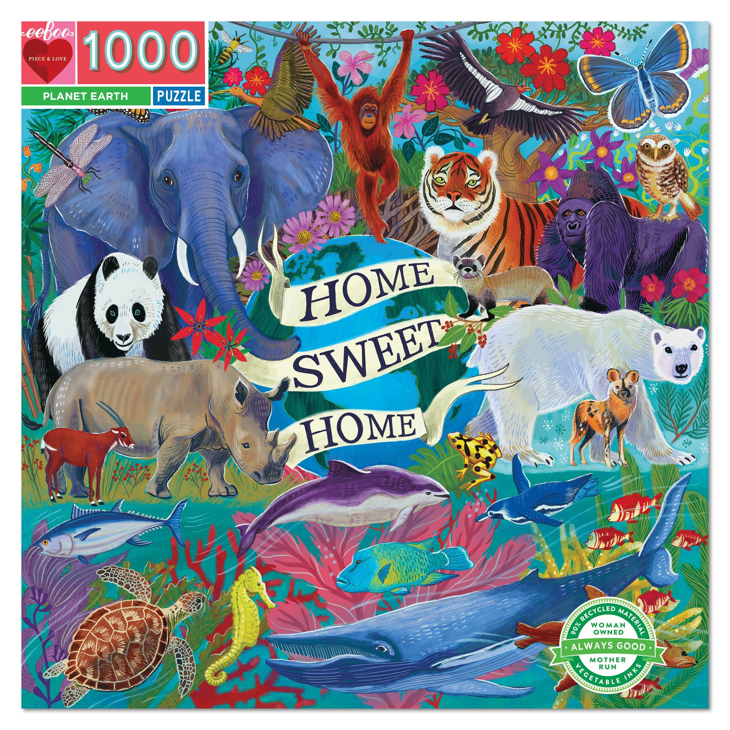 El Planeta Tierra   Puzzle Eeboo 1000 Piezas