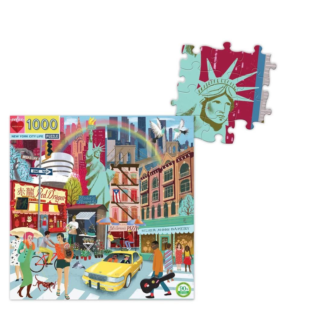 Vida en Nueva York | Puzzle Eeboo 1000 Piezas