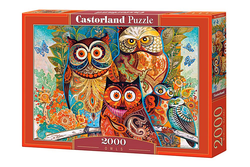 Búhos   Puzzle Castorland 2000 Piezas