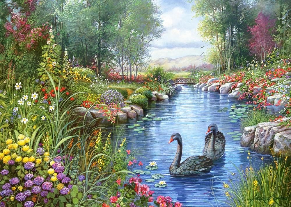Cisnes Negros | Puzzle Castorland 1500 Piezas