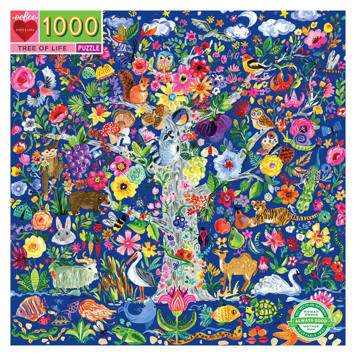 Árbol de la vida | Puzzle Eeboo 1000 Piezas