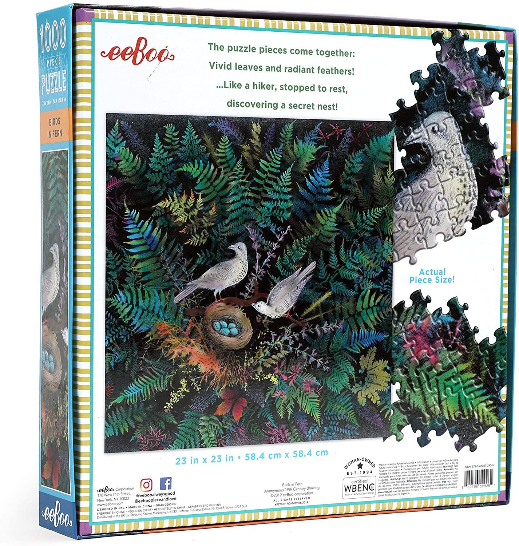 Pájaros en un nido | Puzzle Eeboo 1000 Piezas