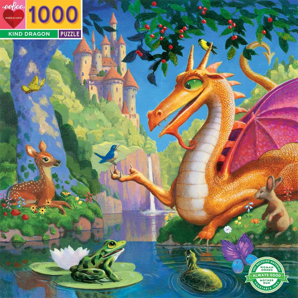 Dragon amable   Puzzle Eeboo 1000 Piezas