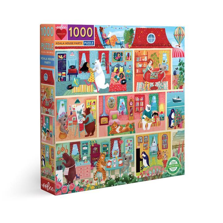 Fiesta en casa Koala | Puzzle Eeboo 1000 Piezas