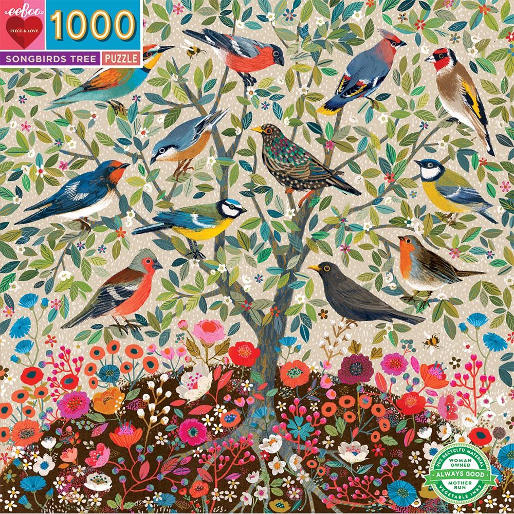 Árbol de Pájaros Cantores   Puzzle Eeboo 1000 Piezas