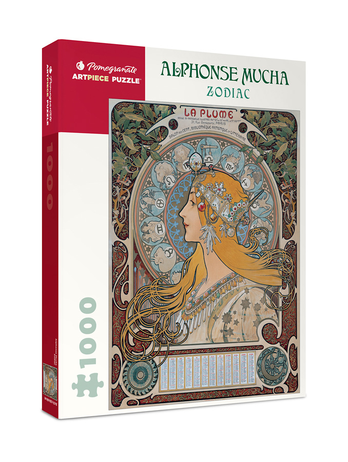 Zodiac, Alphonse Mucha   Puzzle Pomegranate 1000 Piezas