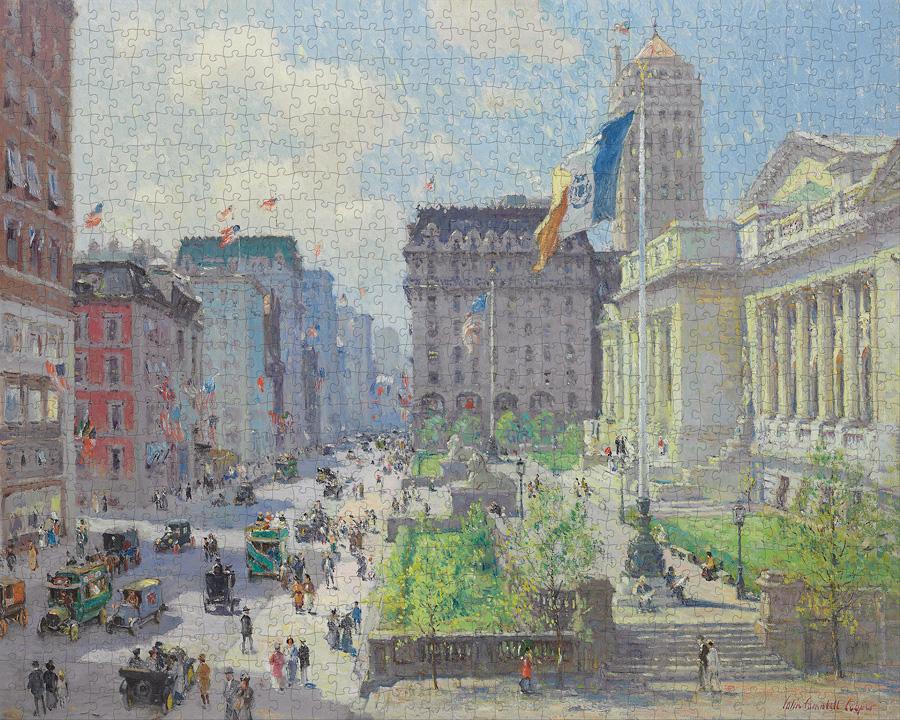 New York public library, 1915   Puzzle Pomegranate 1000 Piezas