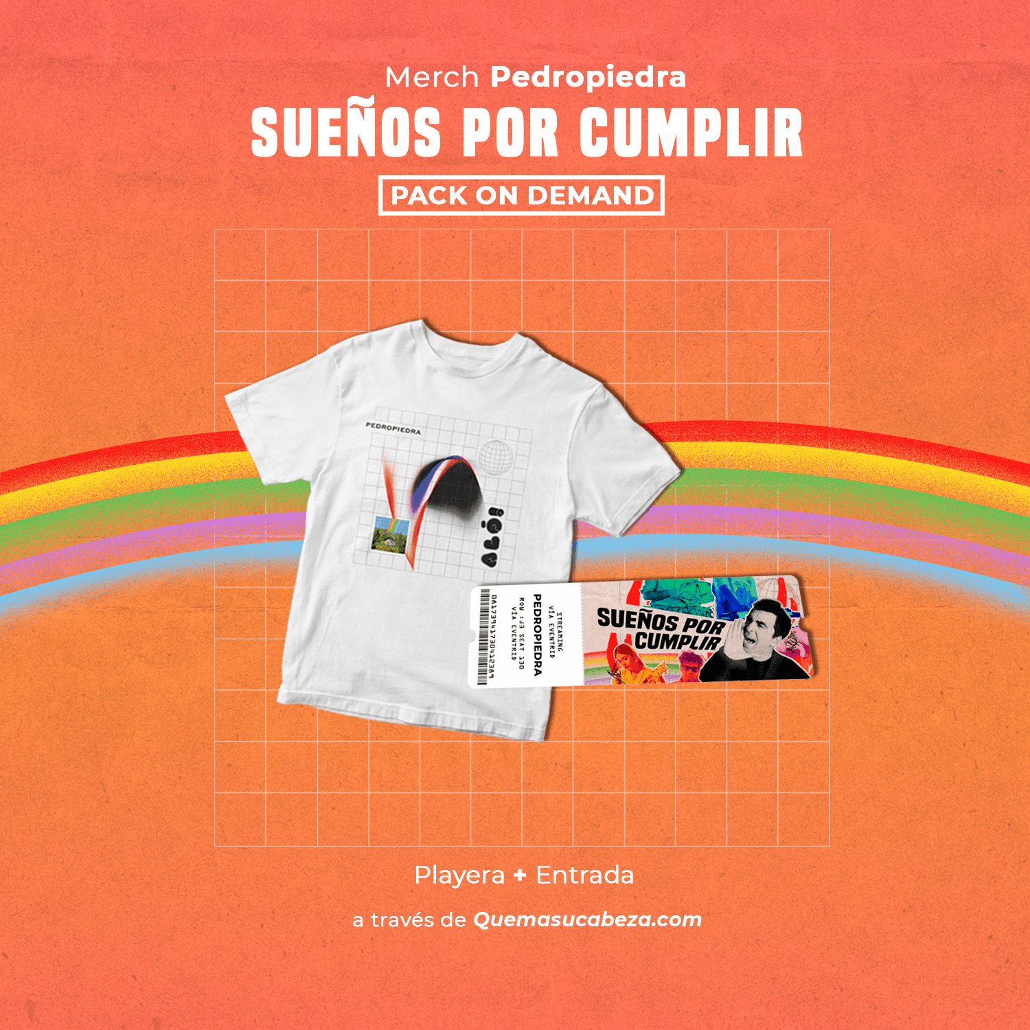 Playera + Entrada (PACK ON DEMAND!)