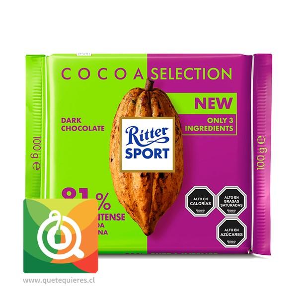 Ritter Sport Chocolate Barra Amargo 81% Cacao