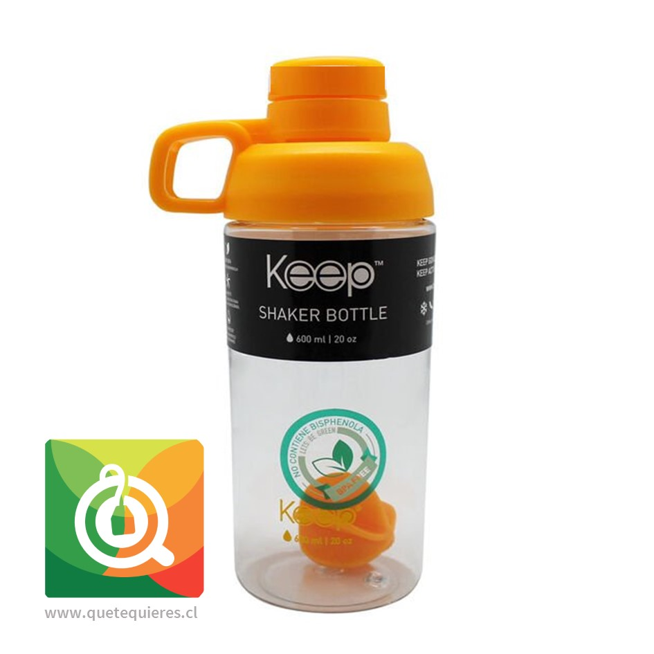 Keep Botella Shaker 600 ml Naranjo