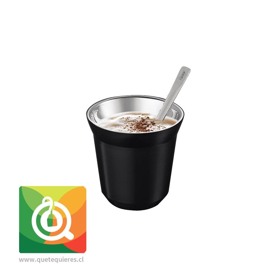 Keep Taza Espresso Negra con Paleta