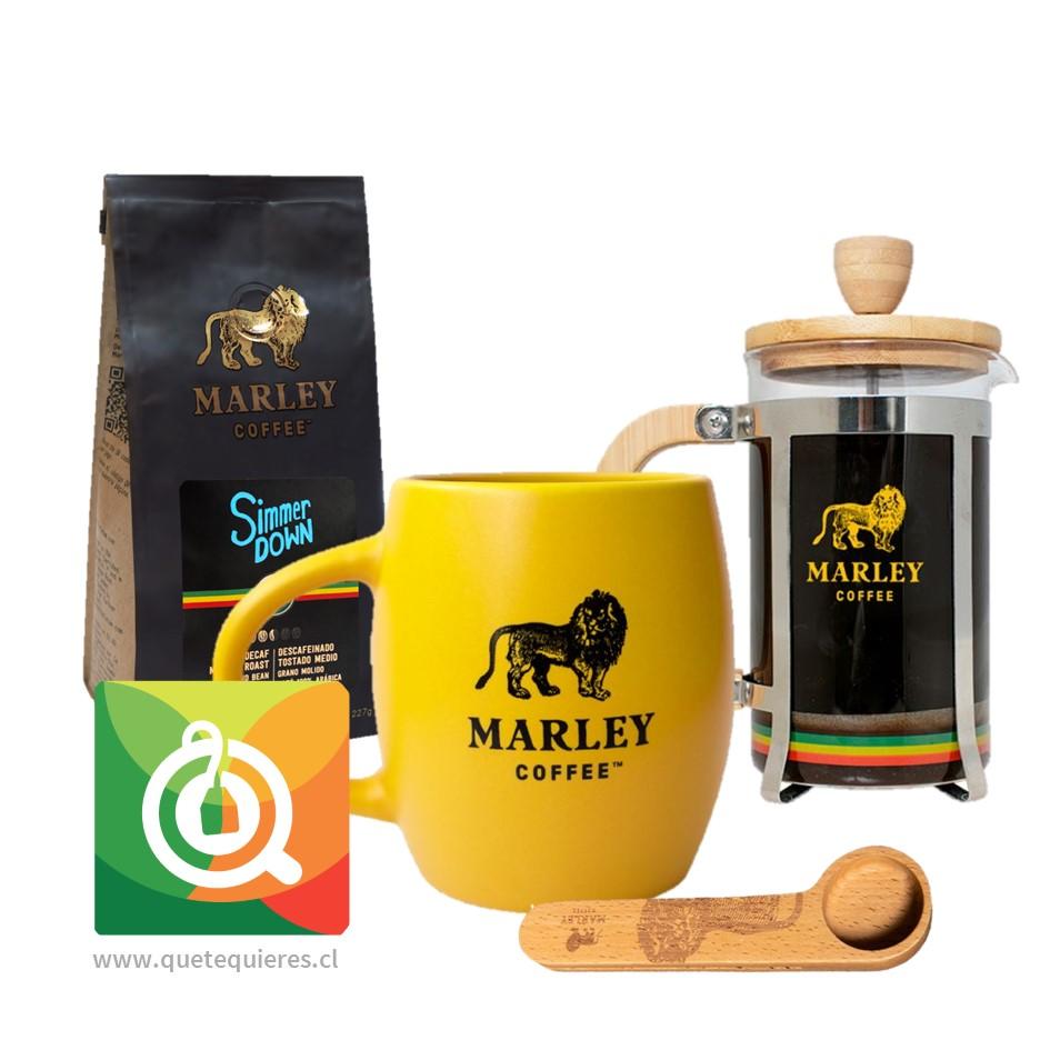 Pack Marley Coffee Tazón Amarillo + Prensa 350 ml + Cuchara + Café Simmer Down