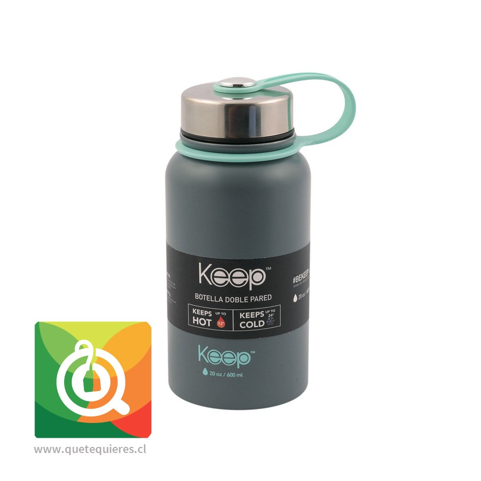 Keep Botella Doble Pared Gris