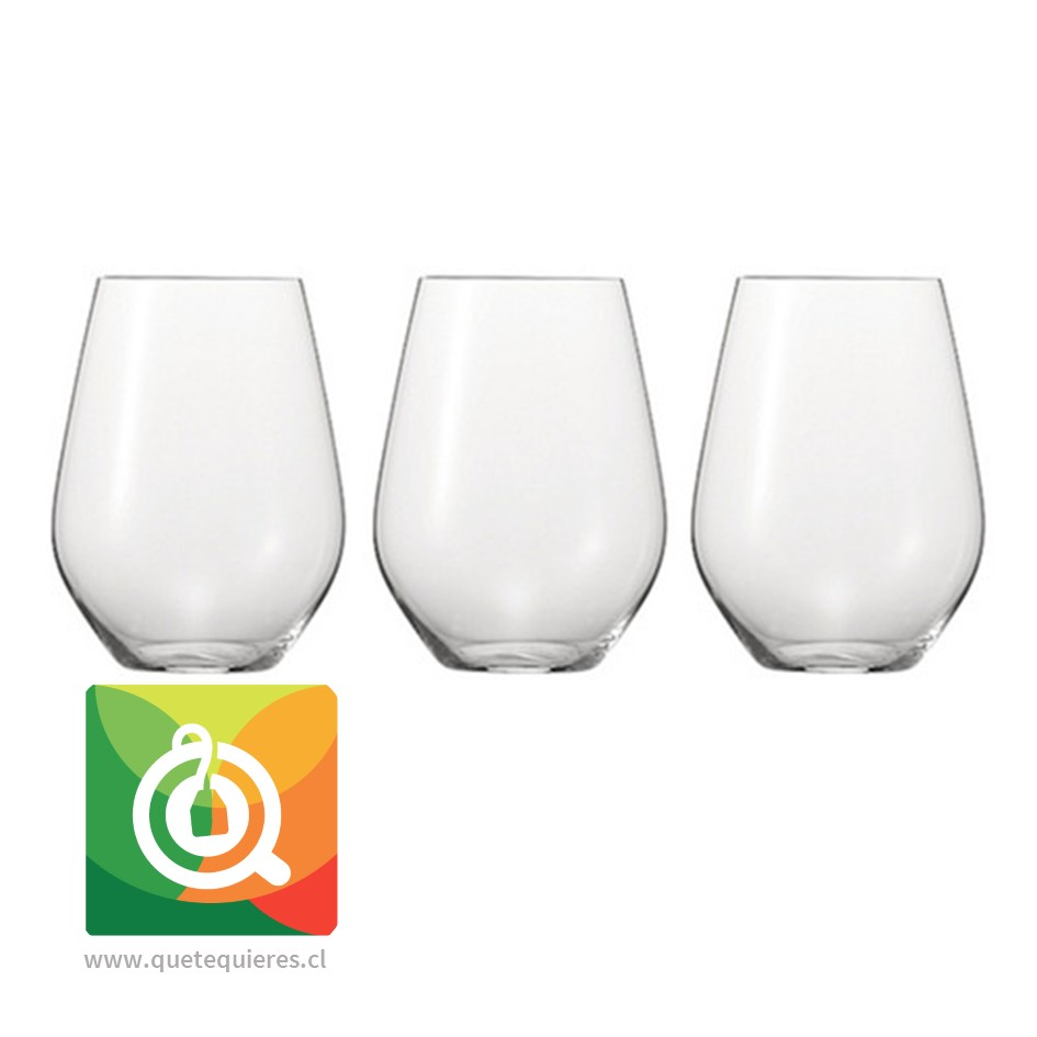 Glasso Vaso de Cristal Anti Volteo 3 unidades