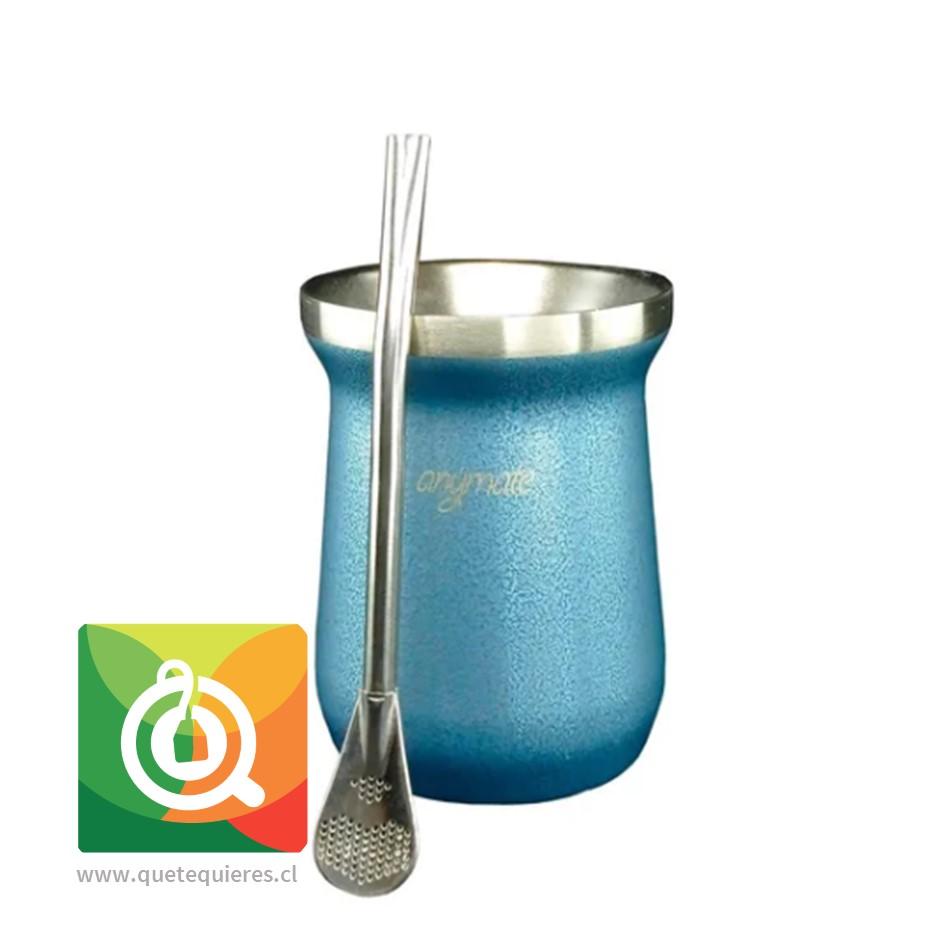 Anymate Mate Premium Azul con Bombilla - Image 1