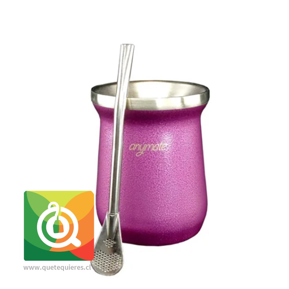 Anymate Mate Premium Morada con Bombilla - Image 1