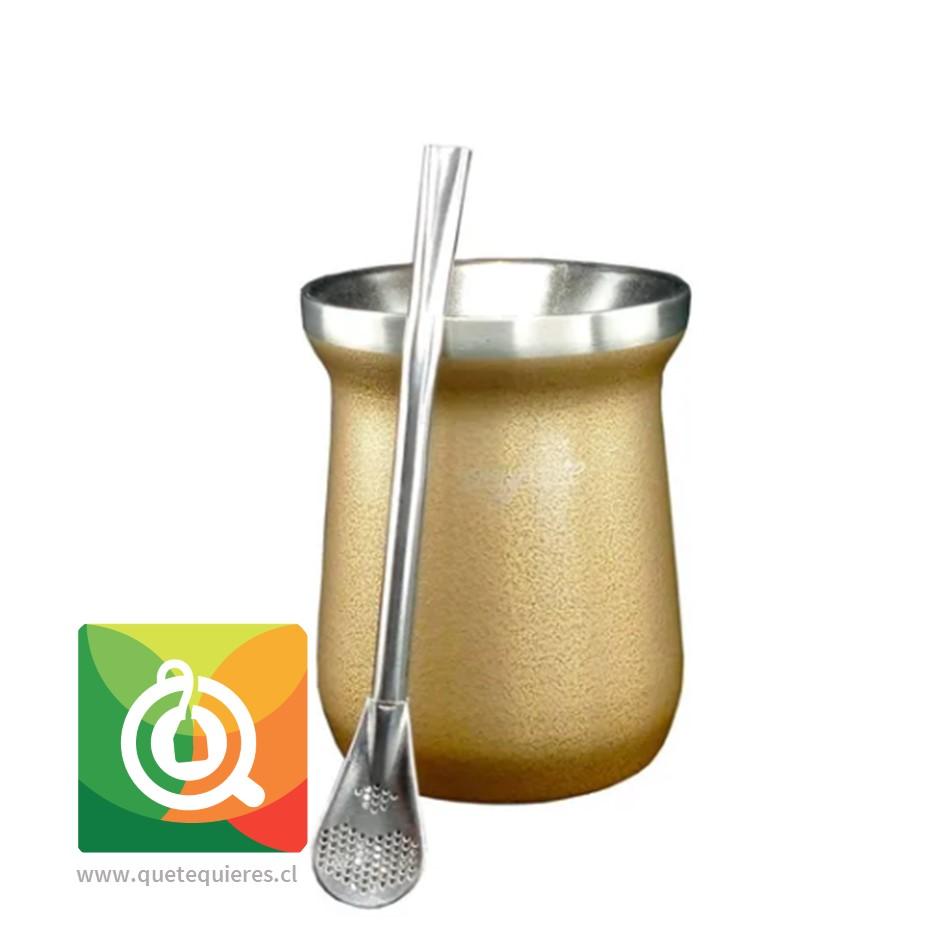Anymate Mate Premium Dorado con Bombilla - Image 1