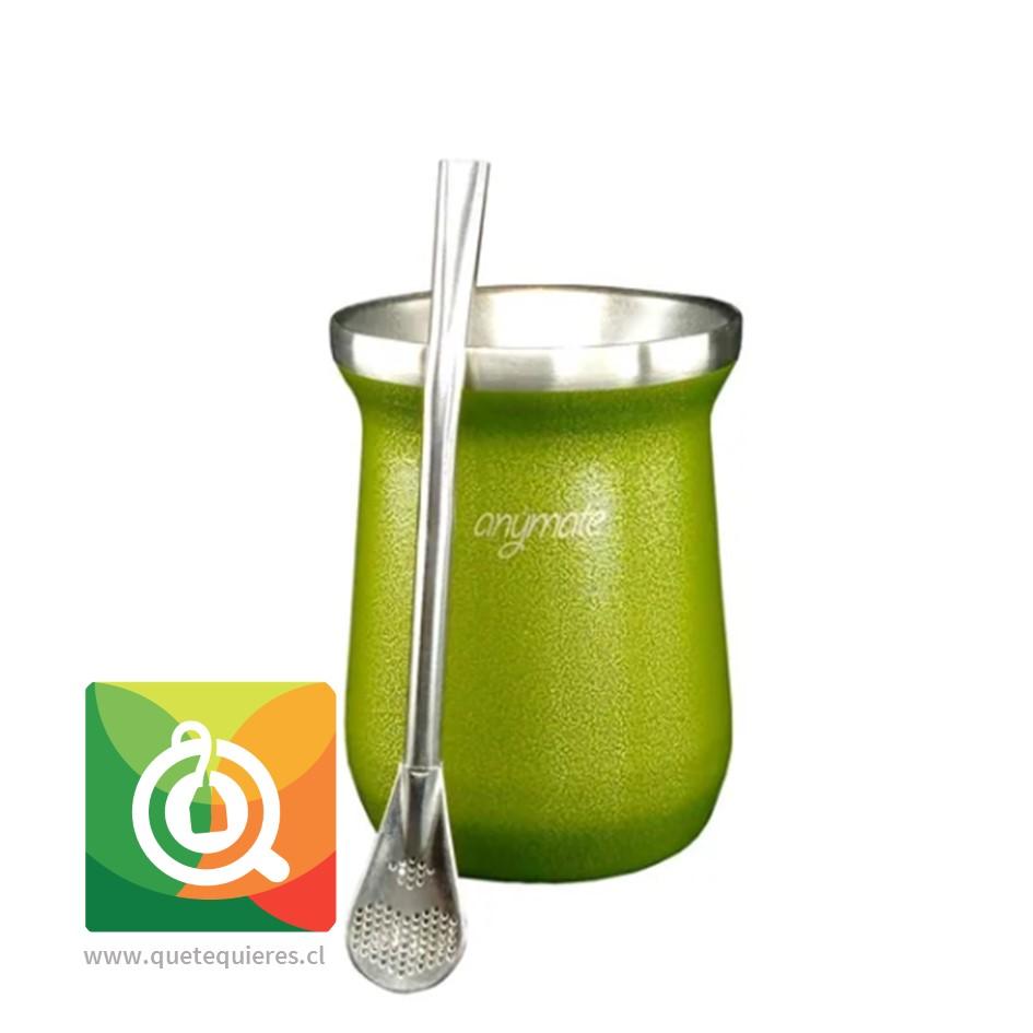 Anymate Mate Premium Verde con Bombilla - Image 1