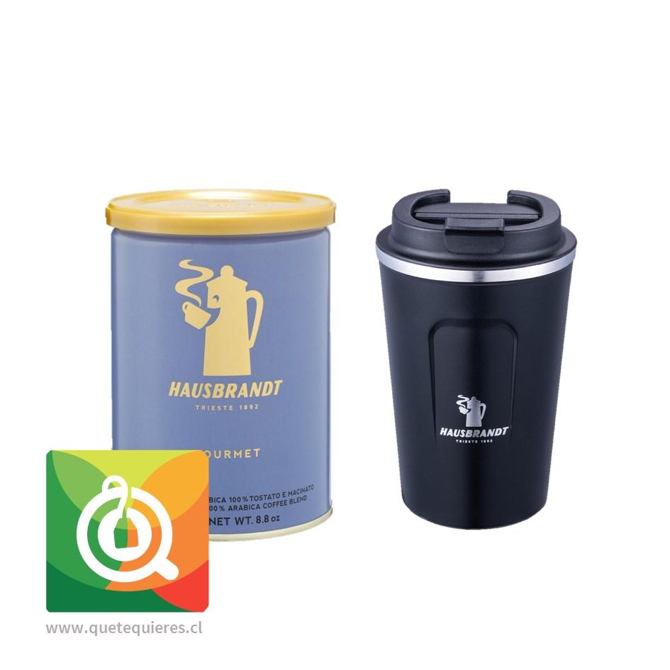 Pack Hausbrandt Café Grano Molido Gourmet + Mug Negro