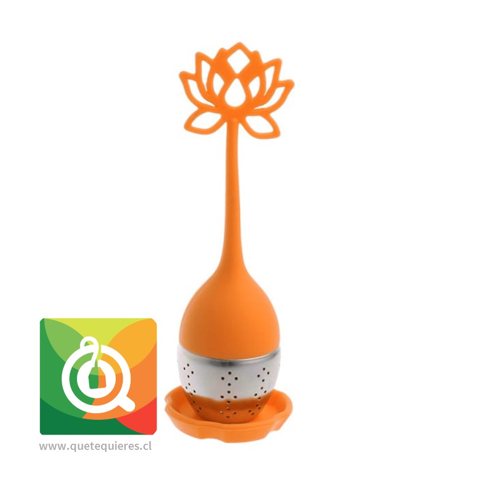 Infusor de Silicona Naranjo -  Flor de Loto