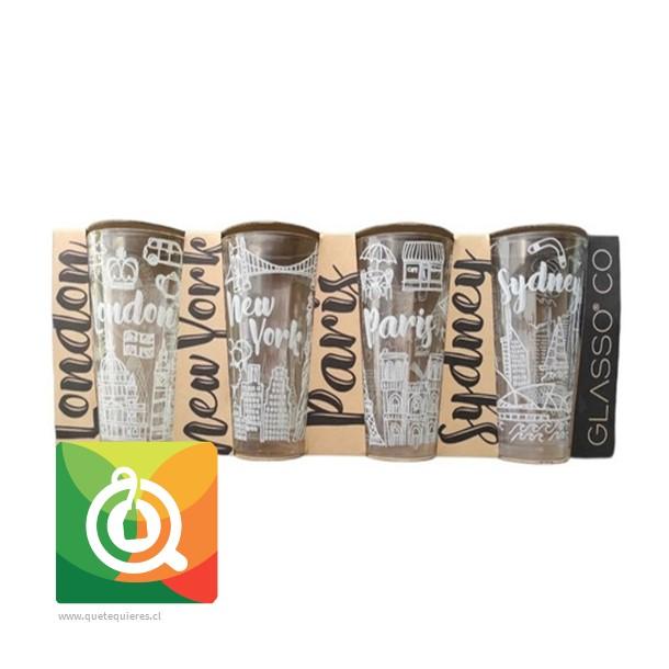 Glasso Set 4 Vasos City collection