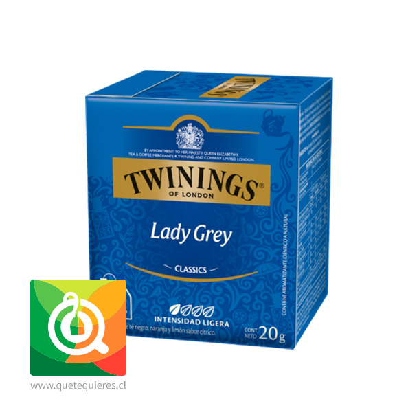 Twinings Té Negro Lady Grey 10 x 2 gr
