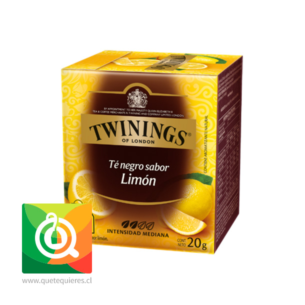 Twinings Té Negro Lemon Scented 10 x 2 gr