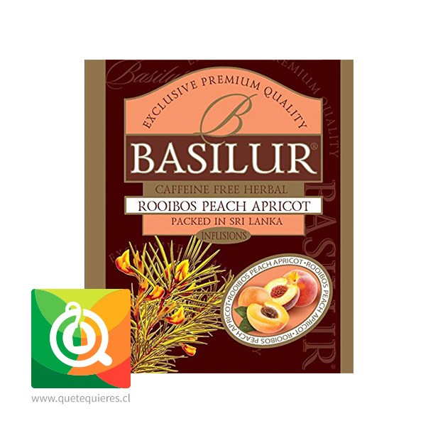 Basilur Infusión Rooibos Durazno y Damasco - Peach & Apricot - Image 2