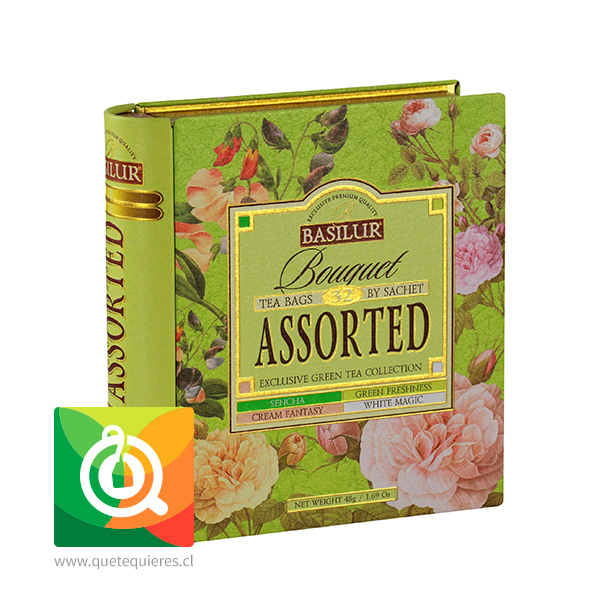 Basilur Libro de Té Surtido Verde - Bouquet Assorted Tea Book- Image 1