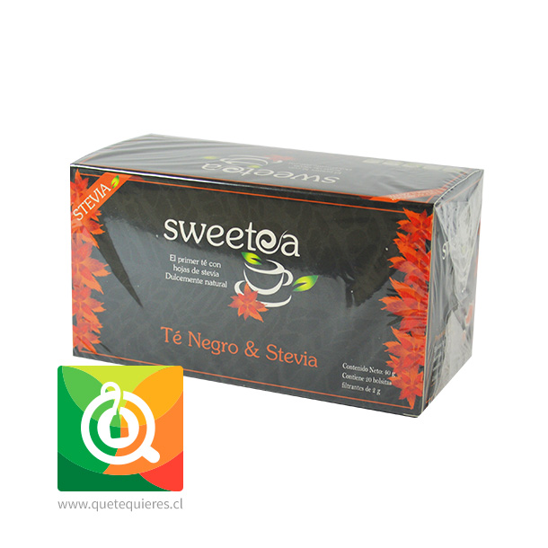 Sweetea Té negro Stevia 20 bolsitas- Image 1