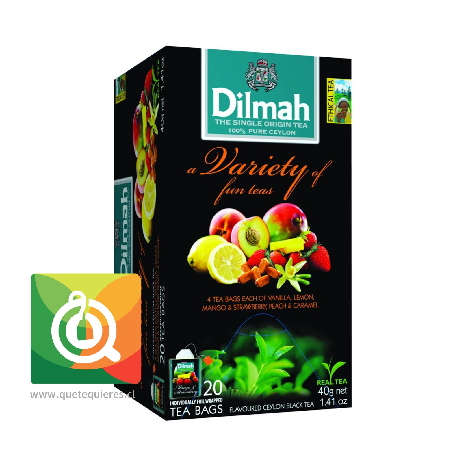 Dilmah Té Variety of fun teas 20 x 2 gr- Image 1