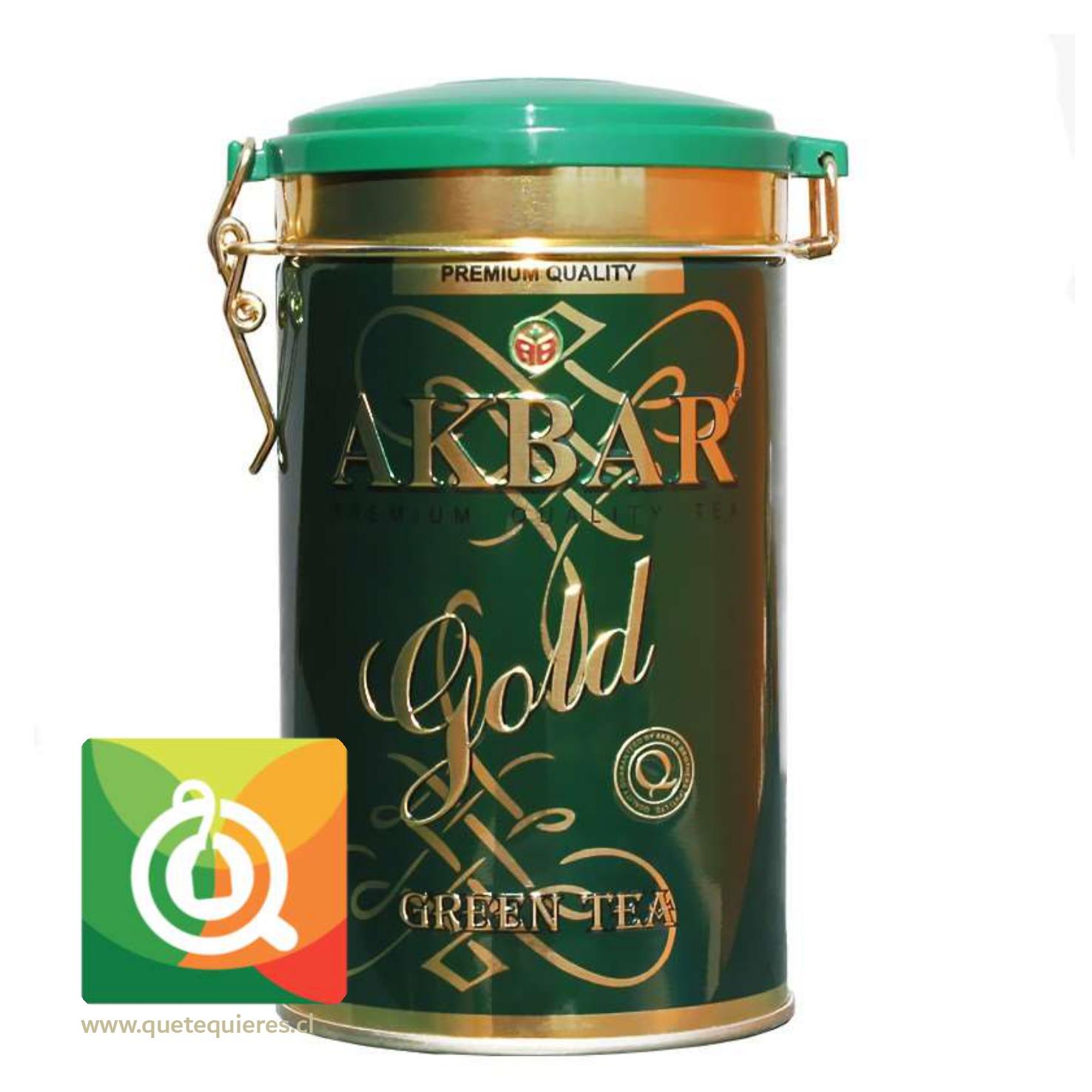 Akbar Gold Té Verde Tarro 275 en Hoja