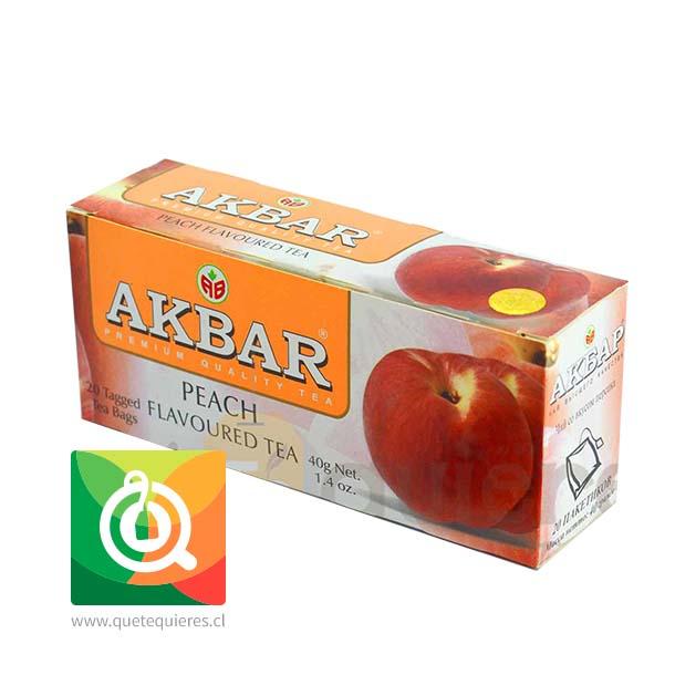 Akbar Té Negro Durazno
