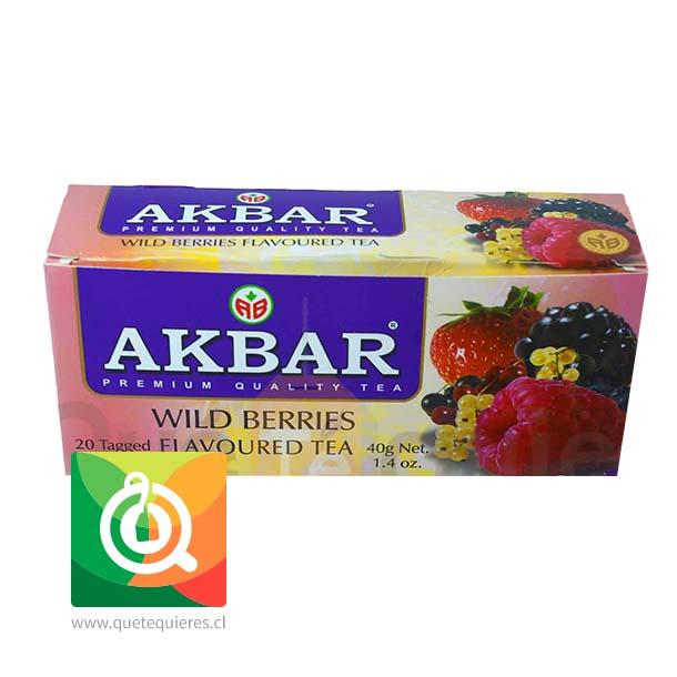 Akbar Té Negro Frutos Rojos