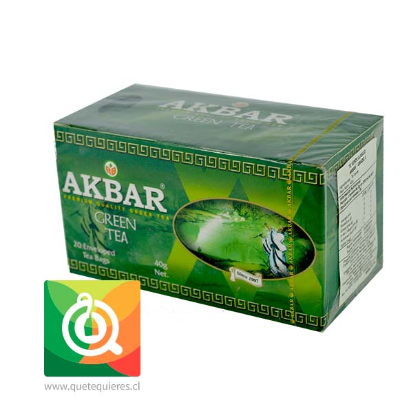 Akbar Té Verde 20 bolsitas