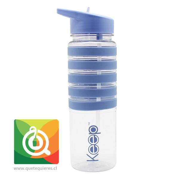 Keep Botella de Agua con Franjas Morada