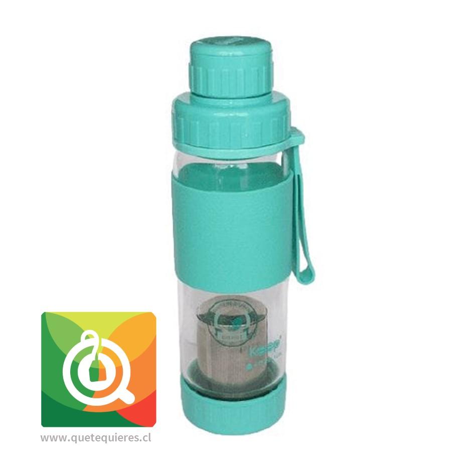 Keep Botella de Vidrio Infusora de Té y Hierbas Turquesa